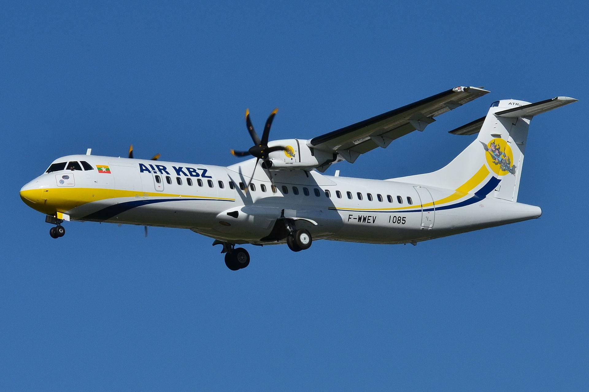 mit modernen ATR72 in Myanmar fliegen